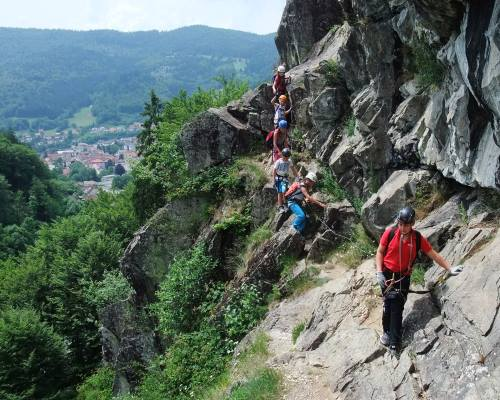 Klettersteig Todtnau : Klettersteig todtnau schwimmbadfelsen besteigung winter